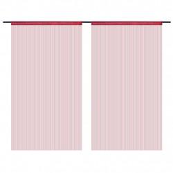 Sonata Пердета ресни, 2 бр, 100x250 см, бордо - Завеси, Пердета и Кoрнизи