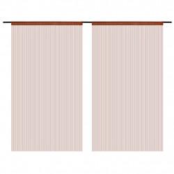 Sonata Пердета ресни, 2 бр, 100x250 см, кафяви - Завеси, Пердета и Кoрнизи