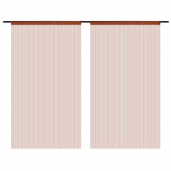 Sonata Пердета ресни, 2 бр, 140x250 см, кафяви - Завеси, Пердета и Кoрнизи