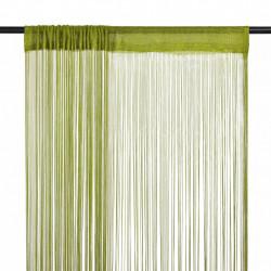 Sonata Пердета ресни, 2 бр, 100x250 см, зелени - Завеси, Пердета и Кoрнизи
