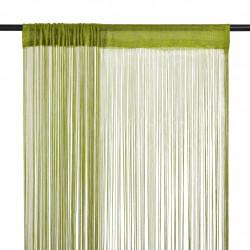 Sonata Пердета ресни, 2 бр, 140x250 см, зелени - Завеси, Пердета и Кoрнизи