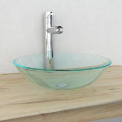 Sonata Мивка от закалено стъкло, 42 см, прозрачна - Мивки и Смесители