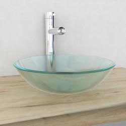 Sonata Мивка от закалено матирано стъкло, 42 см - Мивки и Смесители
