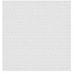 Sonata Панел мрежа от неръждаема стомана, 50x50 см, 45x20x4 мм - Огради