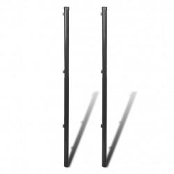 Sonata Колове за телена ограда, 2 бр, 150 см, сиви - Огради
