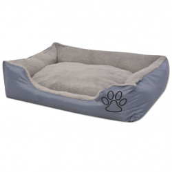 Sonata Кучешко легло с подплатена възглавница, размер S, сиво - Домашни любимци