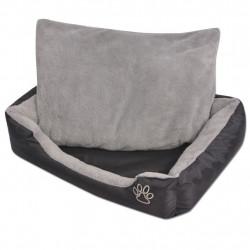 Sonata Кучешко легло с подплатена възглавница, размер S, черно - Домашни любимци