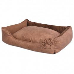 Sonata Кучешко легло с възглавница, PU изкуствена кожа, р-р S, бежово - Домашни любимци