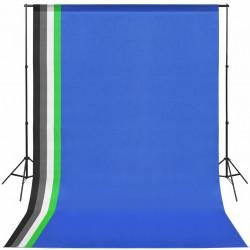 Sonata Комплект за фото студио с фонове в 5 цвята и регулируема рамка - Обзавеждане на Бизнес обекти