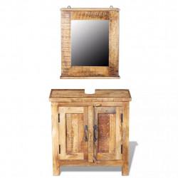 Шкаф за баня с огледало  EX Home model  Sonata ,солидно мангово дърво - Сравняване на продукти