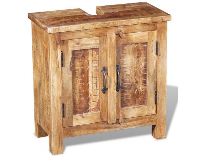 Шкаф за баня с огледало  EX Home model  Sonata ,солидно мангово дърво