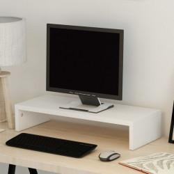 Sonata Стойка за монитор, ПДЧ, 60x23,5x12 см, бяла - ТВ Шкафове