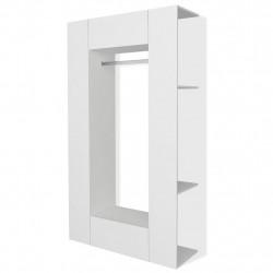 Sonata Гардероб от ПДЧ, 106x36,5x192 cм, бял - Сравняване на продукти