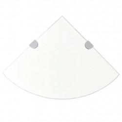 Sonata Ъглов рафт от стъкло с държачи в цвят хром, 35x35 см - Етажерки