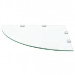 Sonata Ъглов рафт от стъкло с хромирани държачи, 45x45 см - Етажерки