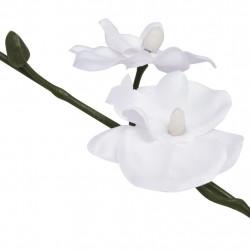 Sonata Изкуствено растение орхидея със саксия, 30 см, бяло - Изкуствени цветя