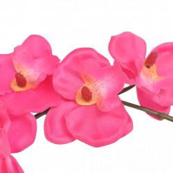 Sonata Изкуствено растение орхидея със саксия, 30 см, червена - Изкуствени цветя