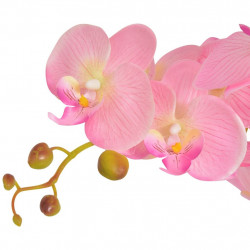 Sonata Изкуствено растение орхидея със саксия, 65 см, розова - Изкуствени цветя