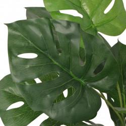 Sonata Изкуствено растение монстера със саксия, 45 см, зелено - Изкуствени цветя