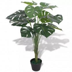 Sonata Изкуствено растение монстера със саксия, 70 см, зелено - Изкуствени цветя