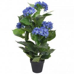 Sonata Изкуствено растение хортензия със саксия, 60 см, синя - Изкуствени цветя