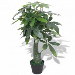 Sonata Изкуствено растение пахира със саксия, 85 см, зелено - Изкуствени цветя