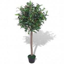 Sonata Изкуствено растение лавър със саксия, 120 см, зелено - Изкуствени цветя