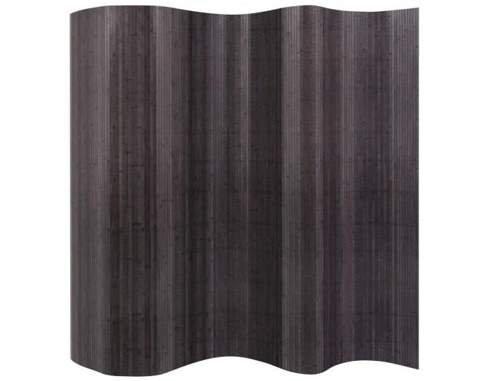 Sonata Разделител за стая от бамбук, сив, 250x195 cм -