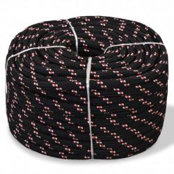 Sonata Морско въже, полипропилен, 12 мм, 50 м, черно - За яхти и лодки