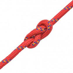 Sonata Морско въже, полипропилен, 6 мм, 100 м, червено - За яхти и лодки