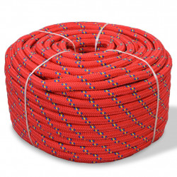 Sonata Морско въже, полипропилен, 10 мм, 50 м, червено - За яхти и лодки