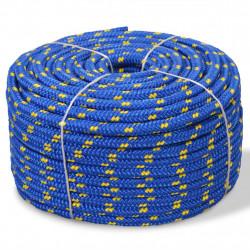 Sonata Морско въже, полипропилен, 10 мм, 50 м, синьо - За яхти и лодки