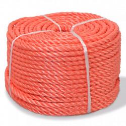Sonata Усукано въже, полипропилен, 6 мм, 200 м, оранжево - Декорация