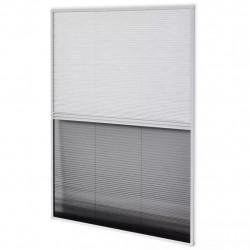 Sonata Алуминиев плисе комарник за прозорци със сенник, 60x80 см - Щори
