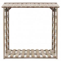 Sonata Навес за дърва за огрев, 150x100x176 cм, FSC импрегниран бор - Камини, Комини и Печки на дърва