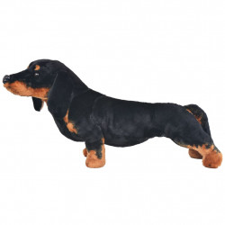 Sonata Плюшено куче дакел за яздене, черно, XXL - Детски играчки