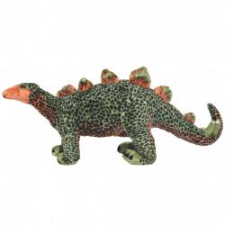 Sonata Плюшен динозавър стегозавър за яздене, зелено и оранжево, XXL - Детски играчки