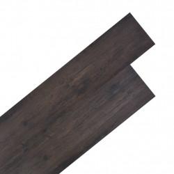 Sonata Подови дъски от PVC 5,26 м² 2 мм цвят тъмносив дъб - Подови настилки