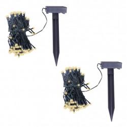 Sonata LED соларни гирлянди, 2 бр, топла бяла светлина - Сезонни и Празнични Декорации