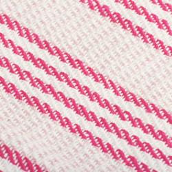 Sonata Декоративно одеяло, памук, ивици, 125x150 см, розово и бяло - Спално бельо