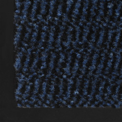 Sonata Правоъгълна изтривалка, усукани влакна, 60х90 см, синя - Изтривалки и Поставки за чадъри
