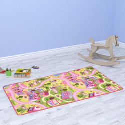 """Sonata Постелка за игра от букле, 80х120 см, дизайн """"Sweet Town"""" - Килими, Мокети и Подложки"""