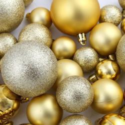 Sonata Комплект коледни топки от 100 части, 6 см, злато - Сезонни и Празнични Декорации