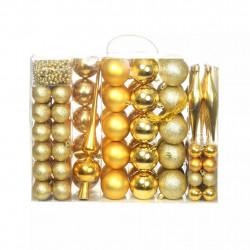 Sonata Комплект коледни топки от 113 части, 6 см, злато - Сезонни и Празнични Декорации