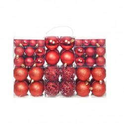 Sonata Комплект коледни топки от 100 части, 6 см, червени - Сезонни и Празнични Декорации