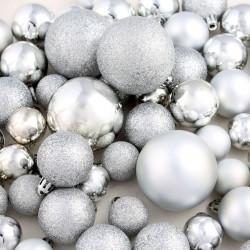 Sonata Комплект коледни топки от 113 части, 6 см, сребро - Сезонни и Празнични Декорации