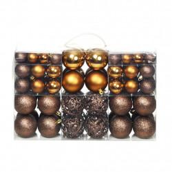 Sonata Комплект коледни топки от 100 части, 6 см, кафяво/бронз/злато - Сезонни и Празнични Декорации