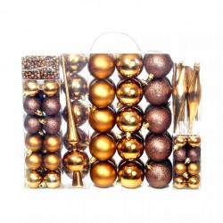 Sonata Комплект коледни топки от 113 части, 6 см, кафяво/бронз/злато - Сезонни и Празнични Декорации