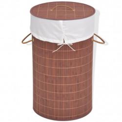 Sonata Бамбуков кош за пране, кръгъл, кафяв - Перални