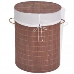 Sonata Бамбуков кош за пране, овален, кафяв - Техника и Отопление